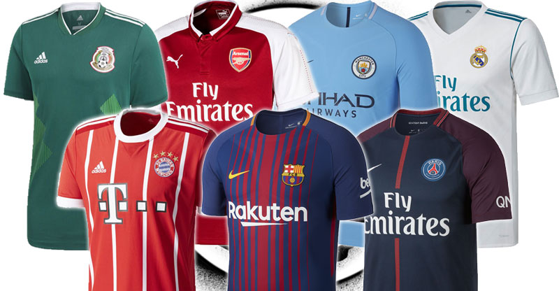release date 1bea0 25aab Support your favorite club or country with officially licensed replica  jerseys from Nike, adidas, Puma and more.