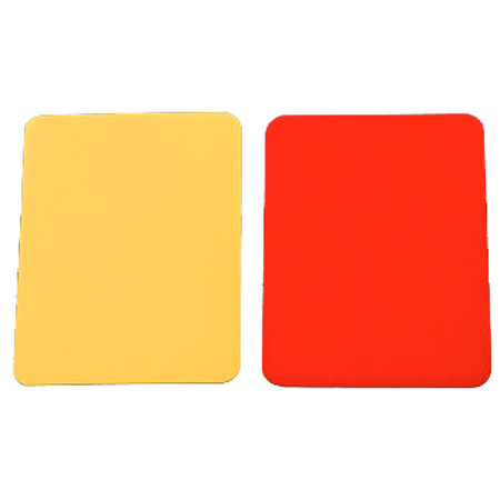 Kwik Goal Red and Yellow Card Set