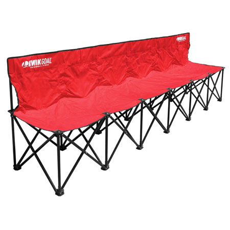 Kwik Goal 6 Seat Kwik Bench Red
