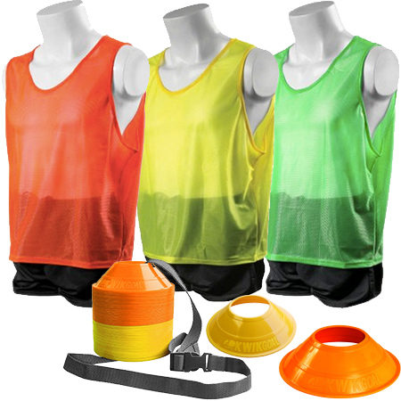 Kwik Goal Hi Vis Mini Cone and Vest Kits