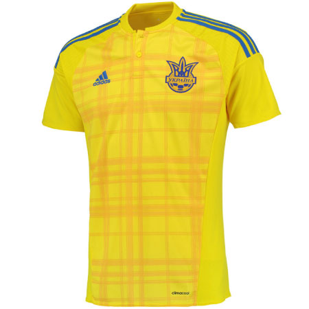adidas Ukraine Home 2016-17 Replica Jersey