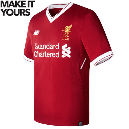 New Balance Liverpool Home 2017-18 Youth Jersey