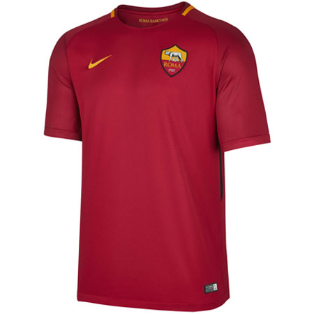 Nike Roma 2017-18 Home Youth Stadium Jersey