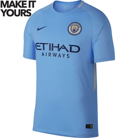 Nike Manchester City 2017-18 Home Stadium Jersey