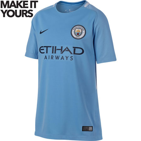 Nike Manchester City 2017-18 Youth Home Stadium Jersey