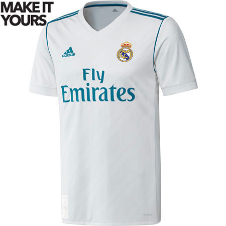 adidas Real Madrid 2017-18 Home Replica Jersey
