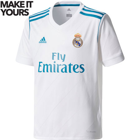 adidas Real Madrid Youth 2017-18 Home Replica