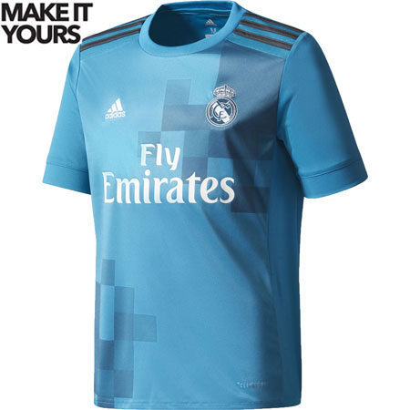 adidas Real Madrid Youth 3rd 2017-18 Replica Jersey