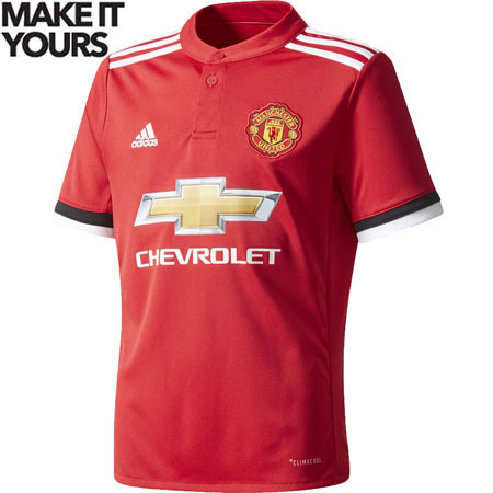 adidas Manchester United Home 2017-18 Youth Stadium Jersey