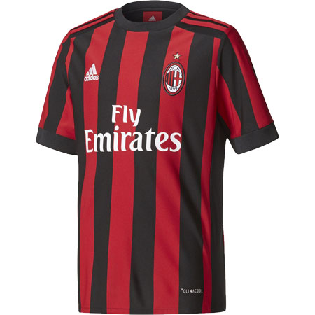 adidas AC Milan Youth Home 2017-18 Replica Jersey