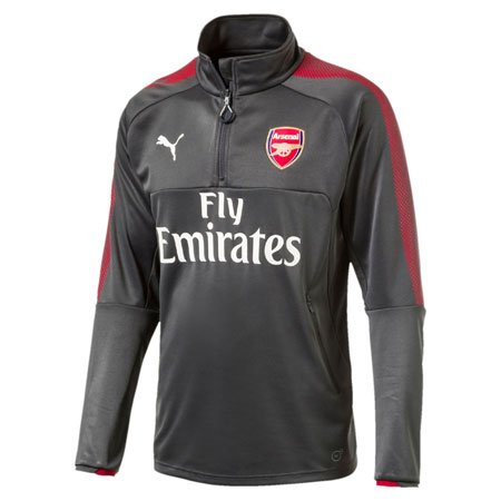 Puma Arsenal 1/4 Zip Long Sleeve Training Top