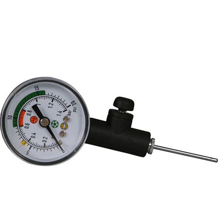 WGS Ball Pressure Gauge with Release Valve