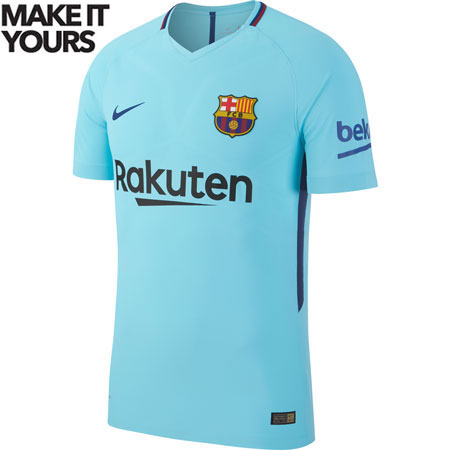 Nike FC Barcelona Away 2017-18 Authentic Match Jersey