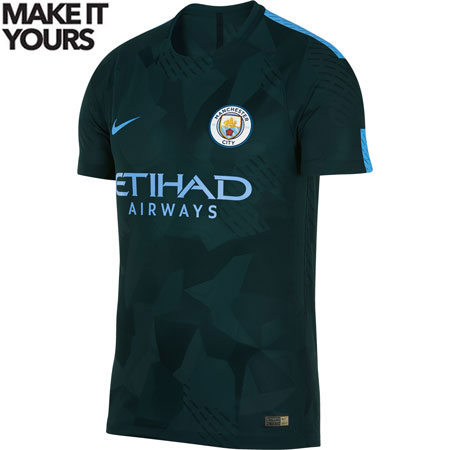 Nike Manchester City 2017-18 Third Authentic Match Jersey