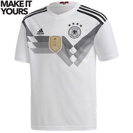 adidas Germany 2018 World Cup Youth Home Replica Jersey
