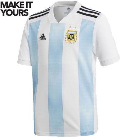 adidas Argentina 2018 World Cup Youth Home Replica Jersey