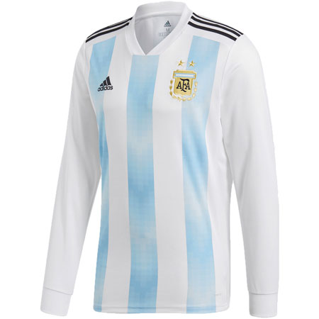 adidas Argentina 2018 World Cup Home LS Replica Jersey