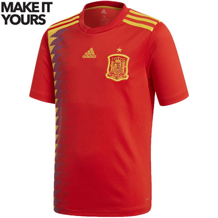 adidas Spain 2018 World Cup Home Youth Replica Jersey