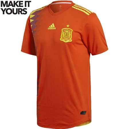 adidas Spain 2018 World Cup Home Authentic Jersey