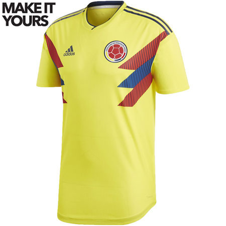 adidas Colombia 2018 World Cup Home Authentic Jersey