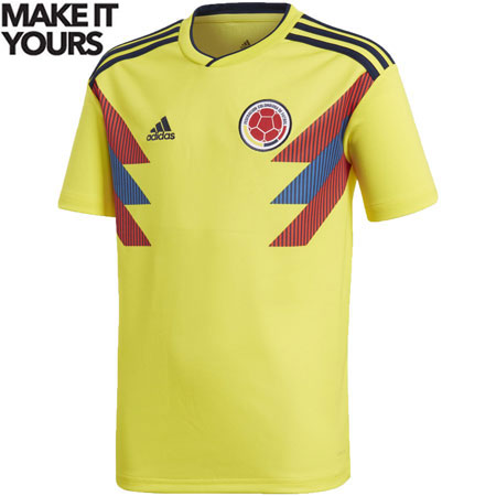 adidas Colombia 2018 World Cup Youth Home Replica Jersey