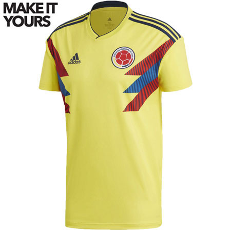 adidas Colombia 2018 World Cup Home Replica Jersey