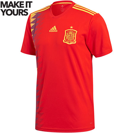 adidas Spain 2018 World Cup Home Replica Jersey