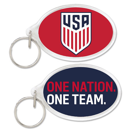 USA National Team Acrylic Key Ring Carded Oval
