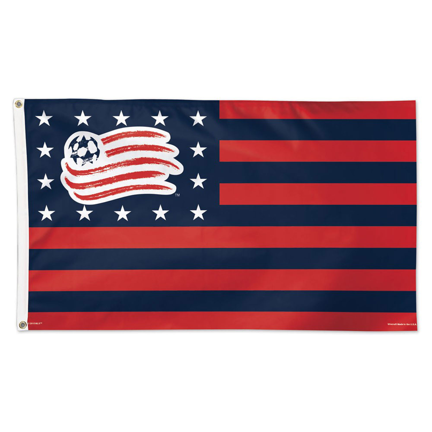 New England Revolution Stars and Stripes Flag - Deluxe 3