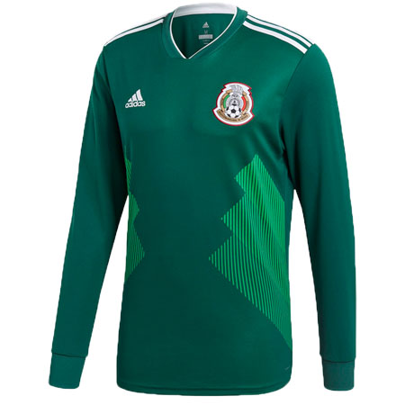 adidas Mexico 2018 World Cup Home Replica LS Jersey