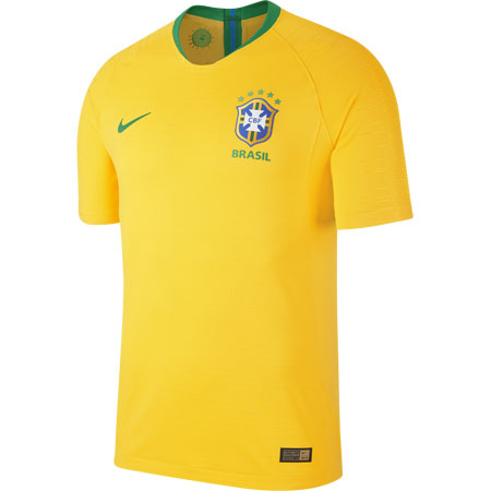 Nike Brazil 2018 World Cup Home Vapor Match Jersey