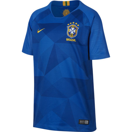 Nike Brazil 2018 World Cup Away Youth Stadium Jersey