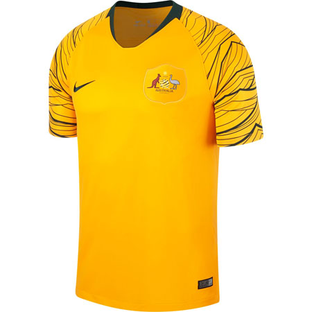 Nike Australia 2018 World Cup Home Stadium Jersey