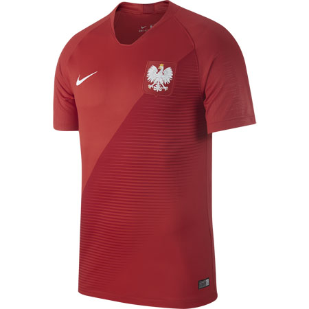 Nike Poland 2018 World Cup Away Stadium Jersey