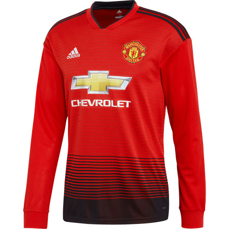 adidas Manchester United Home 2018-19 LS Replica Jersey 45cd4b8f7