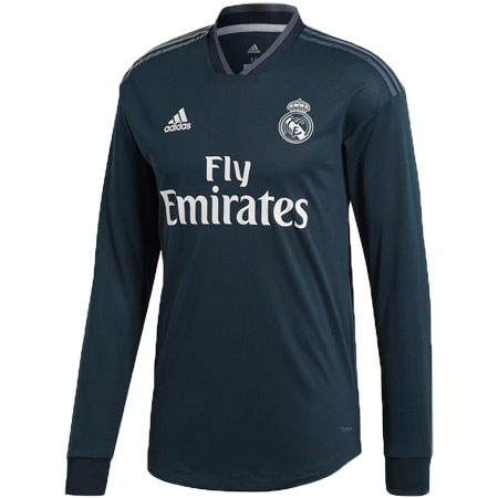 adidas Real Madrid 2018-19 Away Authentic LS Jersey