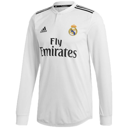 adidas Real Madrid 2018-19 Home Authentic LS Jersey 8c358c951