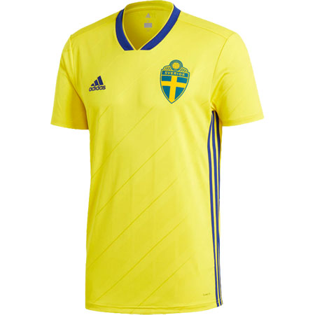 adidas Sweden 2018 World Cup Home Replica Jersey