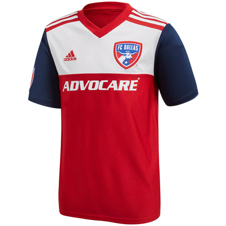 adidas FC Dallas 2018-19 Youth Primary Jersey
