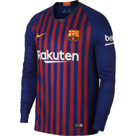 Nike FC Barcelona Home 2018-19 Long Sleeve Stadium Jersey