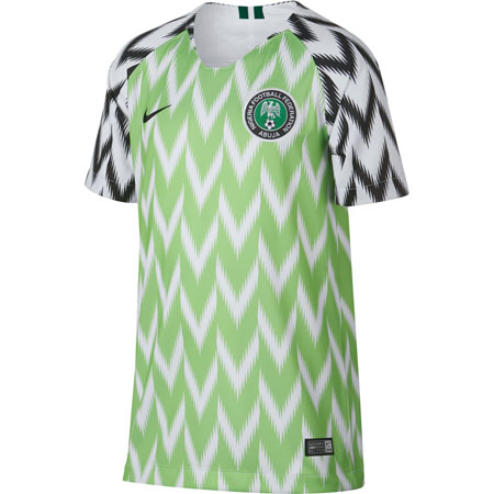 Nike Nigeria 2018 World Cup Youth Home Stadium Jersey