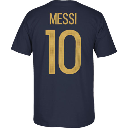 adidas Lionel Messi 10 Argentina Federation Navy Tee