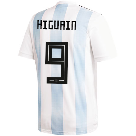 adidas Higuain Argentina 2018 World Cup Home Jersey