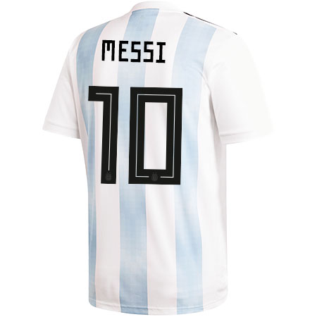 adidas Youth Messi Argentina 2018 World Cup Home Jersey