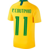 Nike Coutinho Brazil 2018 World Cup Home Jersey