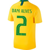Nike Alves Brazil 2018 World Cup Home Jersey