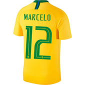 Nike Marcelo Brazil 2018 World Cup Home Jersey