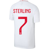 Nike Sterling England 2018 World Cup Home Jersey