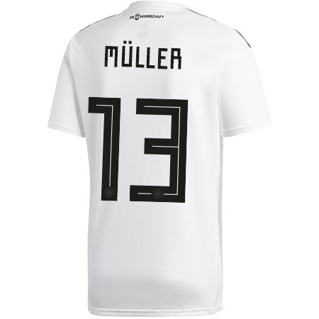 3417c320356f adidas Muller Germany 2018 World Cup Home Jersey