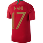 Nike Nani Portugal 2018 World Cup Home Jersey